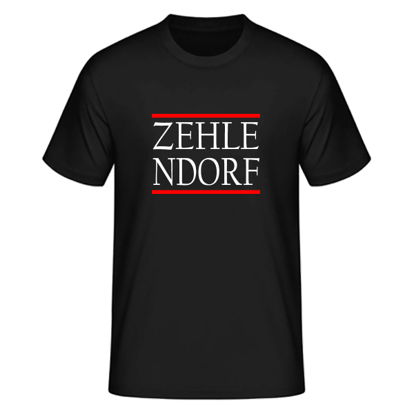 T-Shirt Silben ZEHLE-NDORF (Run DMC Style)