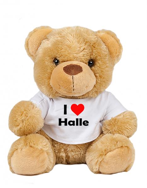Teddy - I love Halle - Plüschbär Halle