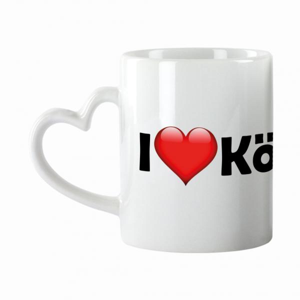Tasse I love Köpenick mit Herzhenkel