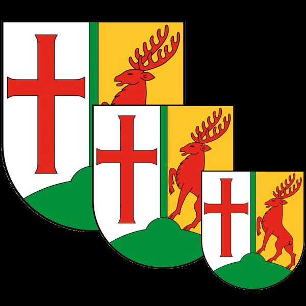 Aufkleber - Wappen Tempelhof-Schöneberg