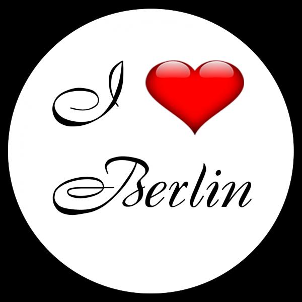 Aufkleber - I love Berlin (Rund)