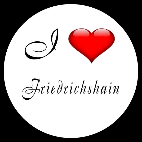 Aufkleber - I love Friedrichshain (Rund)