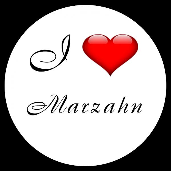 Aufkleber - I love Marzahn (Rund)
