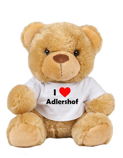 Teddy - I love Adlershof - Plüschbär Berlin Treptow-Köpenick