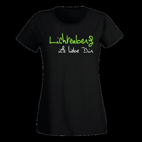 T-Shirt Lichtenberg Ick liebe dir für Frauen