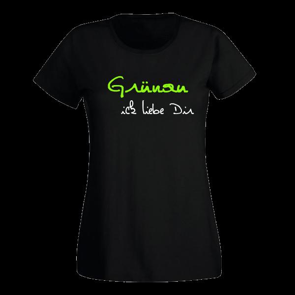 T-Shirt Grünau Ick liebe dir für Frauen