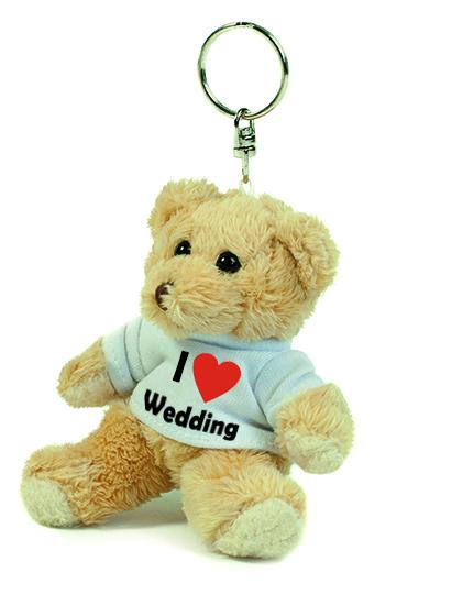 Teddy Schlüsselanhänger - I love Wedding
