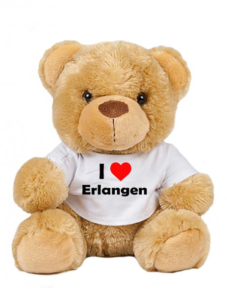 Teddy - I love Erlangen - Plüschbär Erlangen