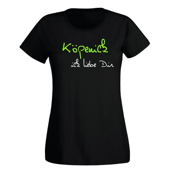 T-Shirt Köpenick Ick liebe dir für Frauen